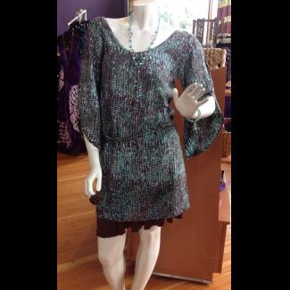 Feathered Sleeve Tunic