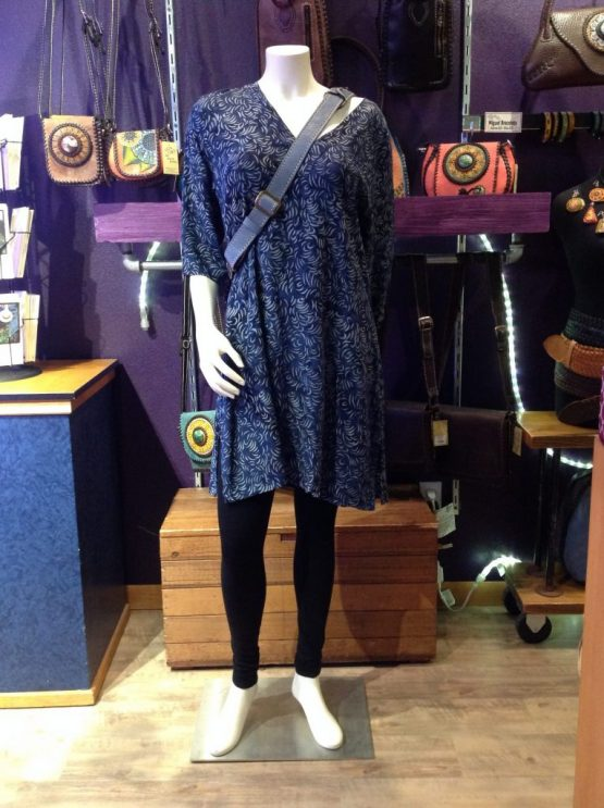 Navy Feather Amy Tunic